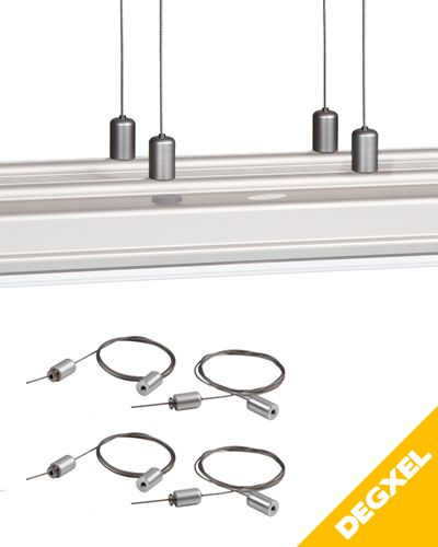 Kit de 4 cables de suspensions plafond